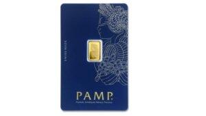 1 Gram PAMP Suisse Gold Bar - Lady Fortuna