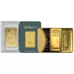 10 oz Gold Bar - Random Brands