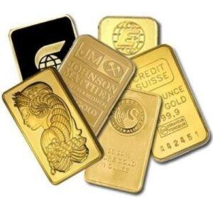 1 oz Gold Bar - Random Brand