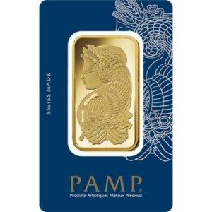 1 oz PAMP Suisse Gold Bar - Lady Fortuna