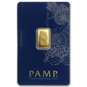 2.5 Gram Gold Bar - PAMP Suisse Lady Fortuna