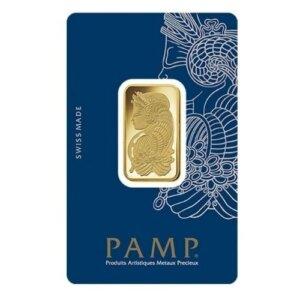 20 Gram PAMP Suisse Gold Bar - Lady Fortuna
