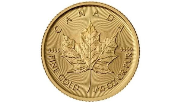 1/10 oz Canadian Maple Gold Leaf Coin