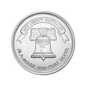 1 oz A Mark Silver Round .999 Fine