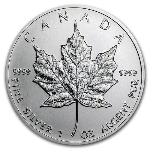 1 oz Silver Canadian Maple Leaf Gold Coin Random