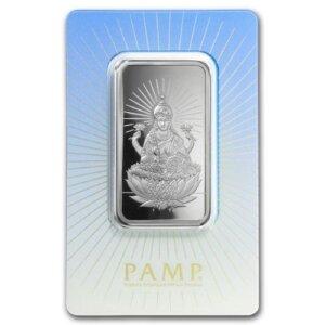 1 oz PAMP Suisse Silver Bar - Lakshmi
