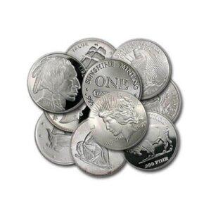1 oz Silver Rounds - Random Brand