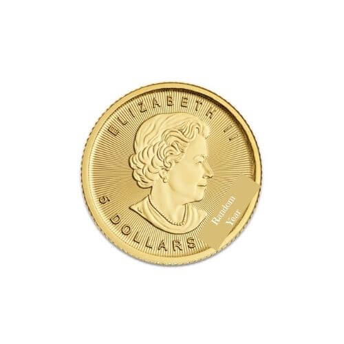 Canadian 1/10 oz gold maple leaf coin