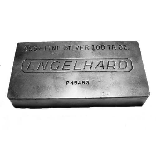 Engelhard 100 oz Silver Bars