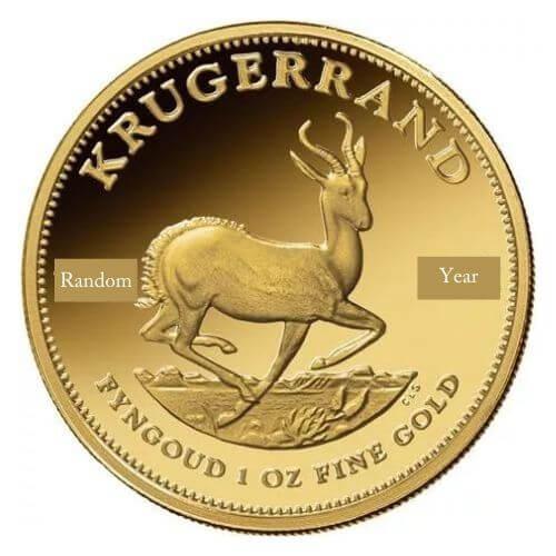 South African 1 oz Gold Krugerrand Coin(Random Year)