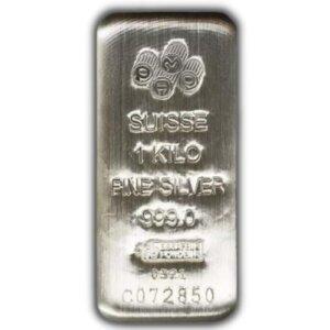 1 Kilo PAMP Suisse Silver Bar - Cast