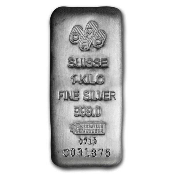 1 kilo pamp suisse silver bar
