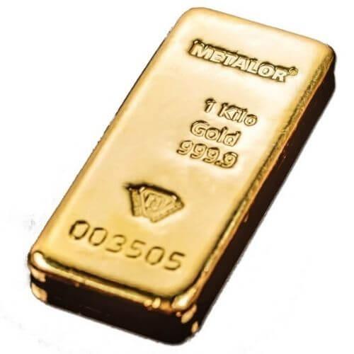 1 Kilo Metalor Gold Bar .9999 Fine(New)