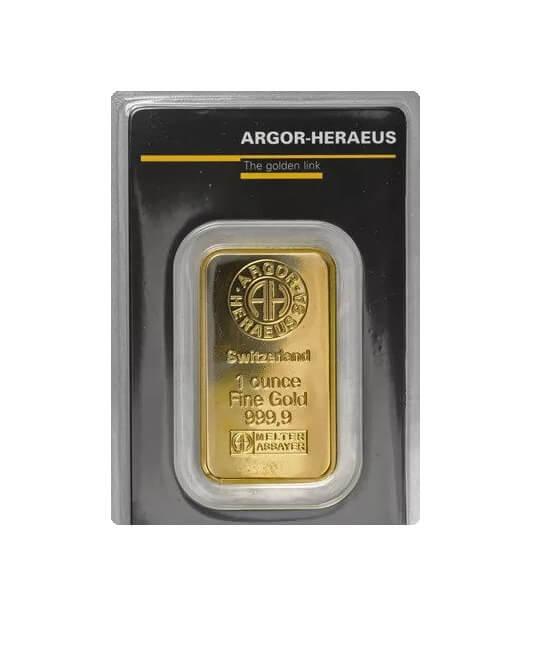 1 oz argor haraeus gold bar