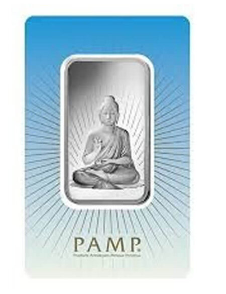 1 Oz Silver Bar - PAMP Suisse Buddha