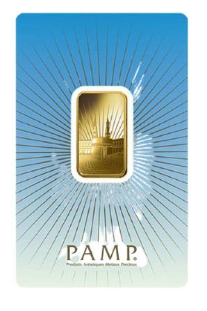 10 Gram Pamp Suisse Ka Bah Mecca Gold Bar front