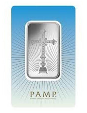 10 gram Silver Bar - PAMP Suisse Romanesque Cross (In Assay)