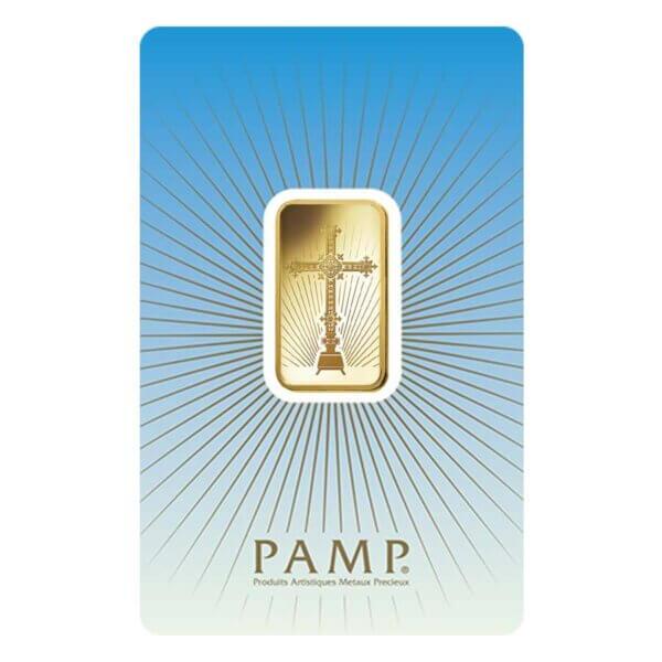 10 gram PAMP Suisse Gold Bar - Romanesque Cross front