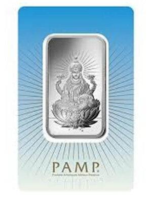 10 gram Silver Bar - PAMP Suisse Lakshmi (In Assay)
