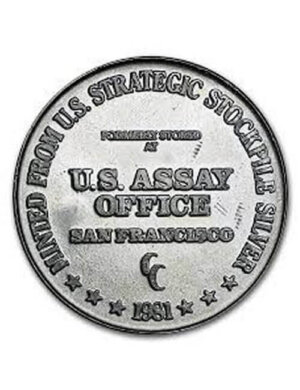 1981 US Assay Office Silver Coin - 1 Oz Silver Round