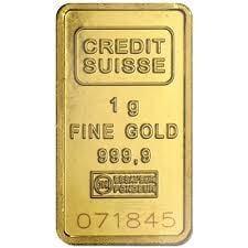 1 Gram Gold Bar - Credit Suisse