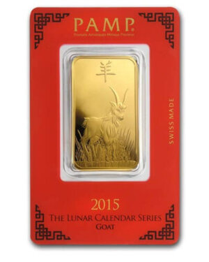 1 Oz Goat Gold Bar - PAMP Suisse (In Assay)