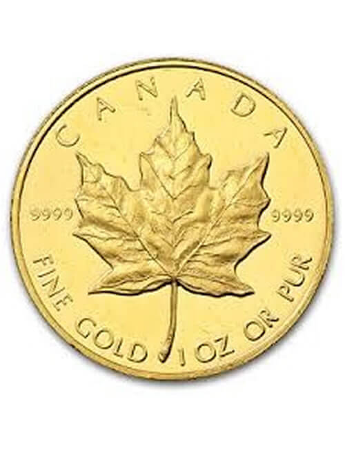 1 Oz Gold Coin - Canadian Maple Leaf (.9999)