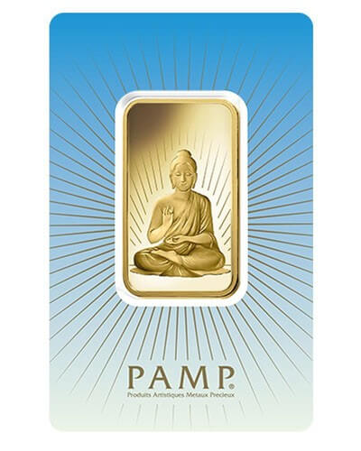 1 Oz Gold Bar - PAMP Suisse Buddha (In Assay)