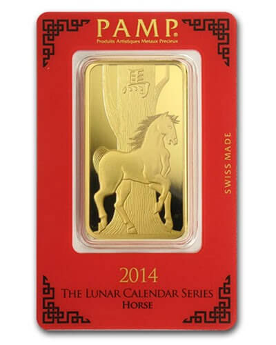 1 Oz Gold Bar - PAMP Suisse Horse (In Assay)