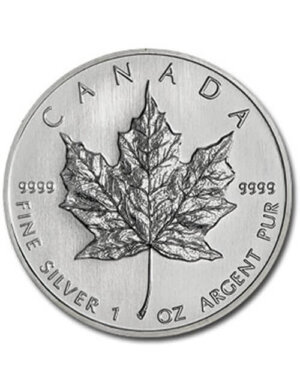 1 Oz Silver Coin - Canadian Maple Leaf