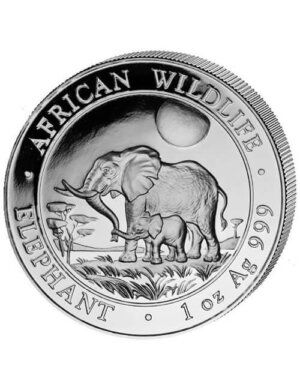 1 Oz Silver Coin - Elephant