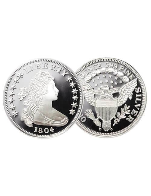 1 Oz Silver Round - 1804 Liberty