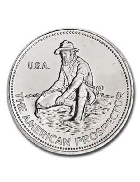 1 Oz Silver Round - Englehard Prospector
