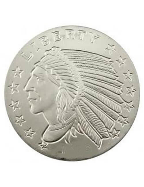 1 Oz Silver Round - Indian Incuse
