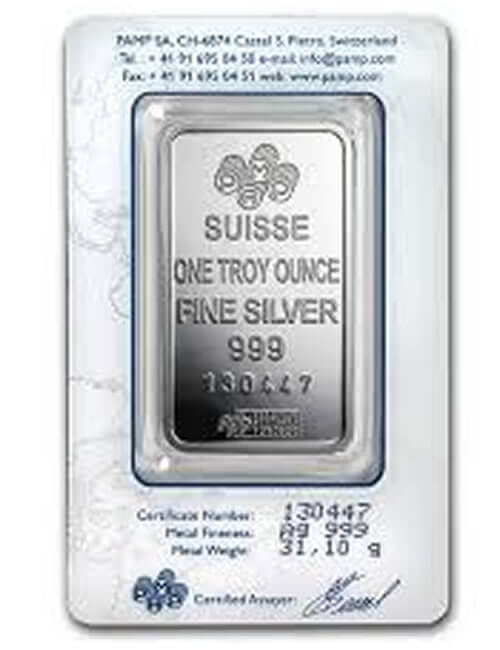 1 Oz Silver Bar - PAMP Suisse Lady Fortuna