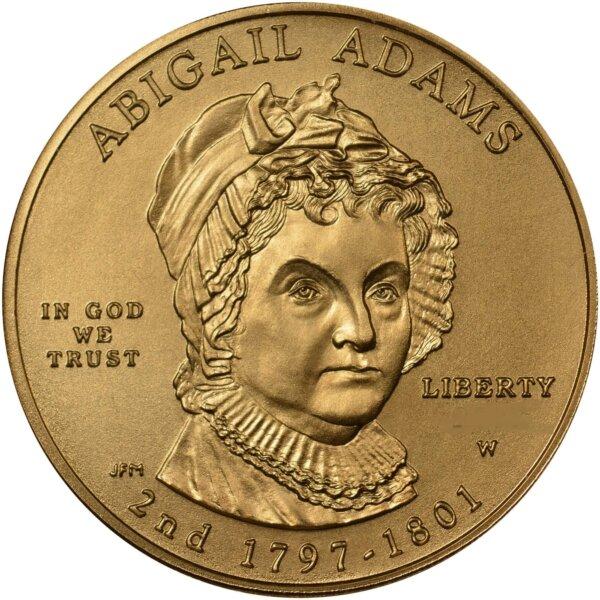 1/2 Oz 1st Spouse Gold Coin - Abigail Adams