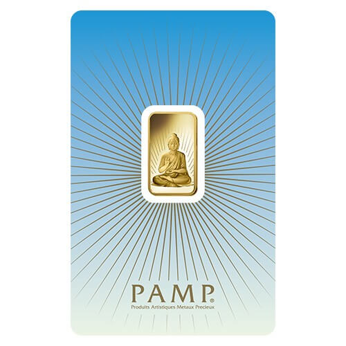 5 Gram Gold Bar - PAMP Suisse Buddha (In Assay)