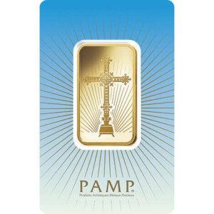 PAMP Suisse 1 oz Gold Bar - Romanesque Cross