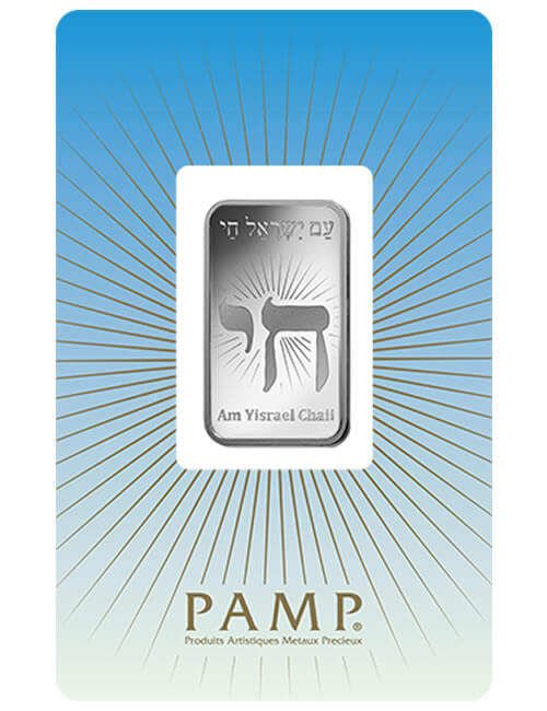 1 Oz Silver Bar - PAMP Suisse Chai (In Assay)