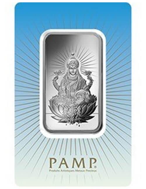 1 Oz Silver Bar - PAMP Suisse Lakshmi
