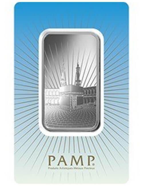 1 Oz Silver Bar - PAMP Suisse Ka'bah Mecca