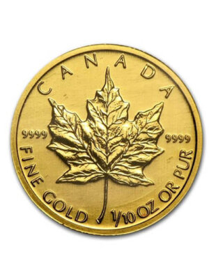 1/10 Oz Gold Coin - Canadian Maple Leaf