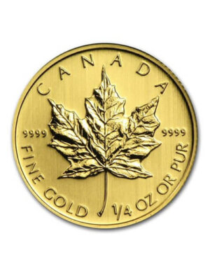 1/4 Oz Gold Coin - Canadian Maple Leaf