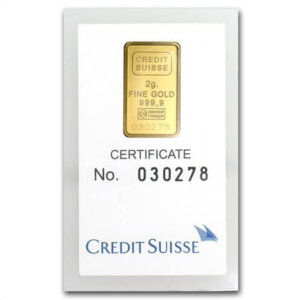 2 Gram Gold Bar - Credit Suisse