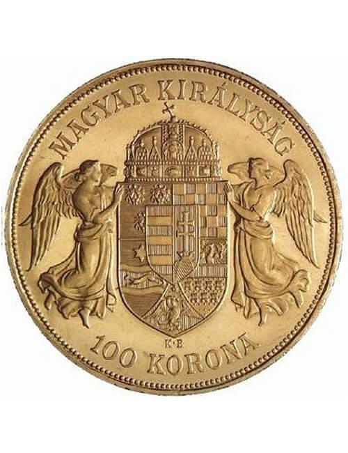 100 Korona Gold Coin - Hungarian