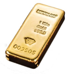 1 Kilo Gold Bar New Metalor