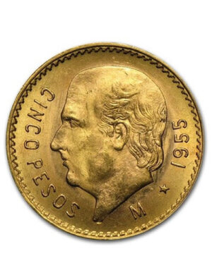Mexican 5.00 Pesos Gold Coin