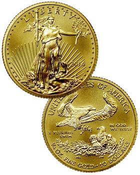 1/4 Oz Gold Coin - American Eagle
