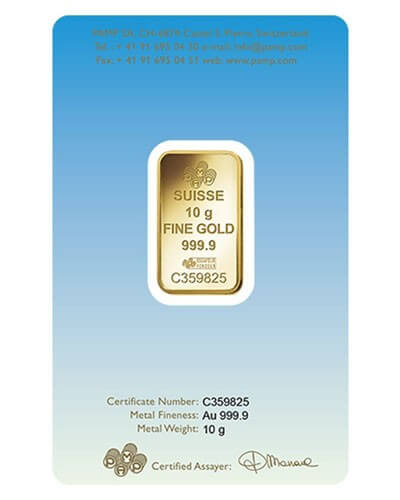 10 Gram Gold Bar - PAMP Suisse Buddha (In Assay)