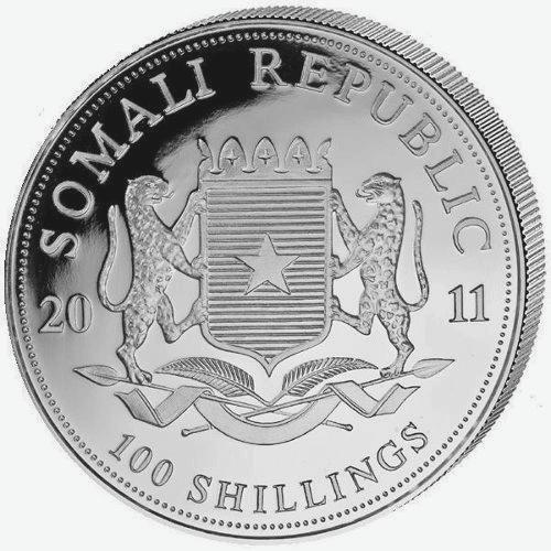 1 oz Somalian Elephant Silver BU